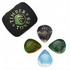Resin Tones Grip Mixed Tin of 4 Guitar Picks